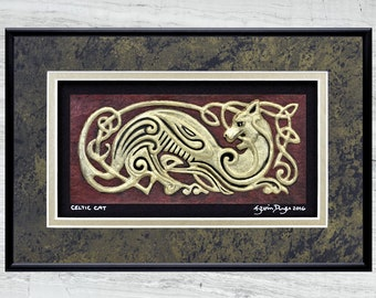 Celtic Cat - Cast Paper