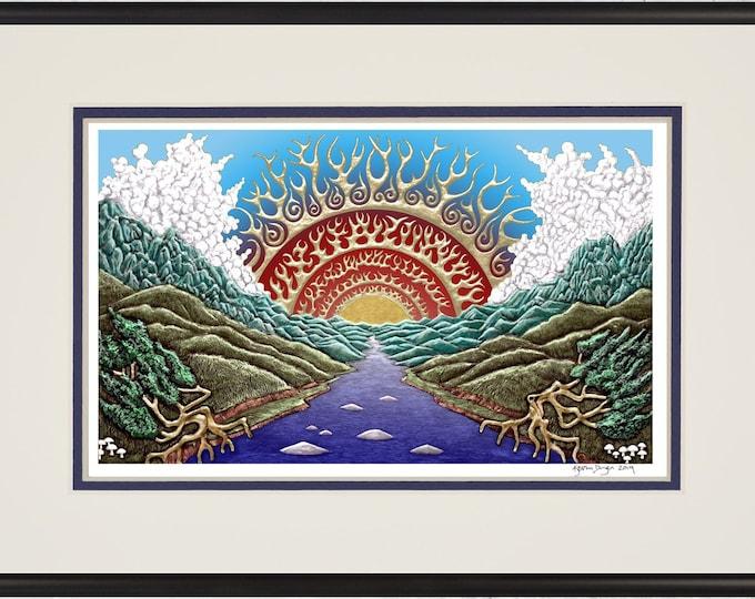 """Re-Awakening - Framed Digital Art Print -  8"""" x 12"""""""