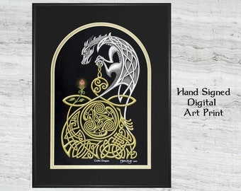 Celtic Dragon - Digital Art Print