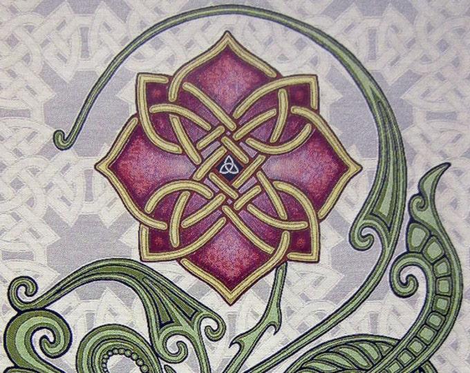 """Wild Irish Rose 26"""" x 36"""" Woven Tapestry"""