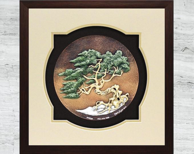 Divi-Divi Tree - Cast Paper - Tree - Green - Landscape - Arbor - Aruba