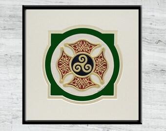 Celtic Firefighter's Cross