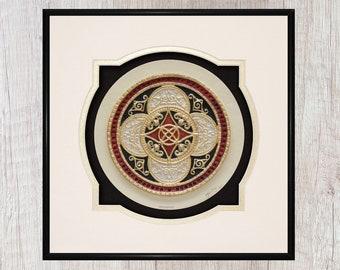 Celtic Ring of Prosperity - Cast Paper