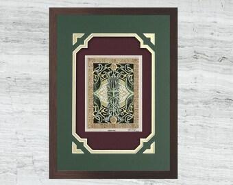 Green Man - Cast Paper - Fantasy art - Celtic Knot work - Cernunnos - Pan - Sylvanus - Puck