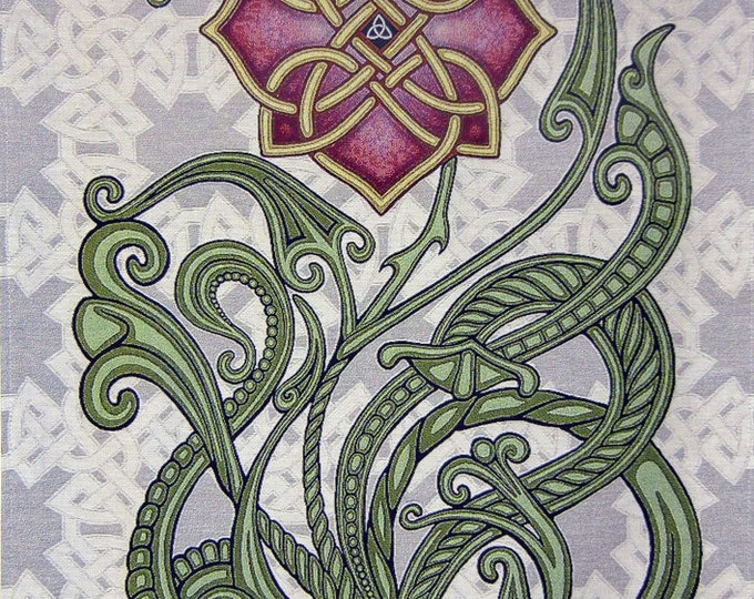 "Wild Irish Rose 26"" x 36"" Woven Tapestry"