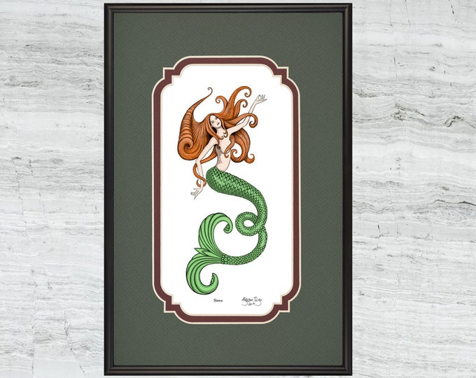 """Siren - Framed Digital Art Print -  8"""" x 12"""""""
