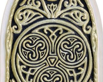 Celtic House Blessing - Cast Paper -  Irish home blessing - Scottish - Celtic Knot Work - housewarming- realtor closing gift - wall art -