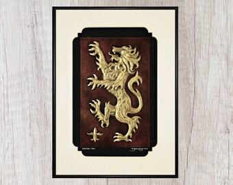 Scottish Lion - Cast Paper