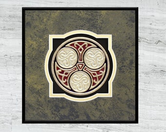 Celtic Family Circle - Cast Paper