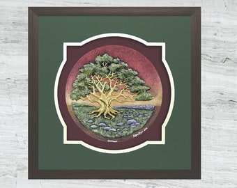 Hawthorn - Cast Paper - Celtic Zodiac - Irish Countryside - May Tree