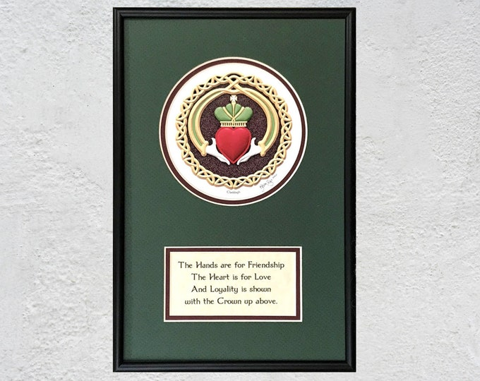 "Claddagh Framed Digital Print - 8"" x 12"""