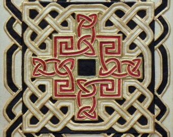 Celtic Cross - Cast Paper - Celtic Blessing - Irish art - Celtic art - Scottish art - Irish gift - book of kells - Ireland