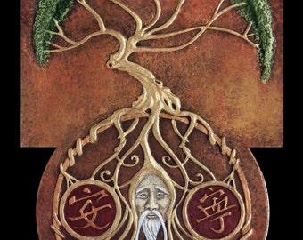 Philosotree - Cast Paper - Lao tzu - philosopher - Chinese - Taoism - Mandarin