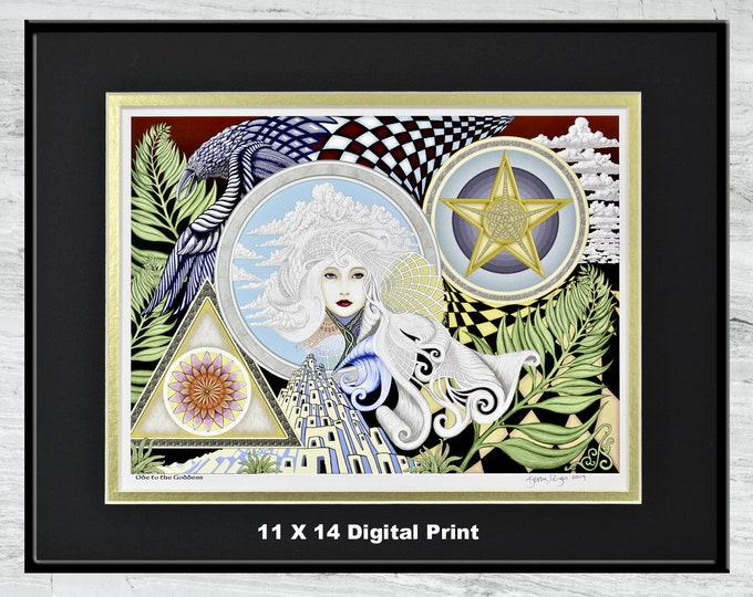 "Ode to the Goddess - 11"" x 14"" Framed Digital Print"