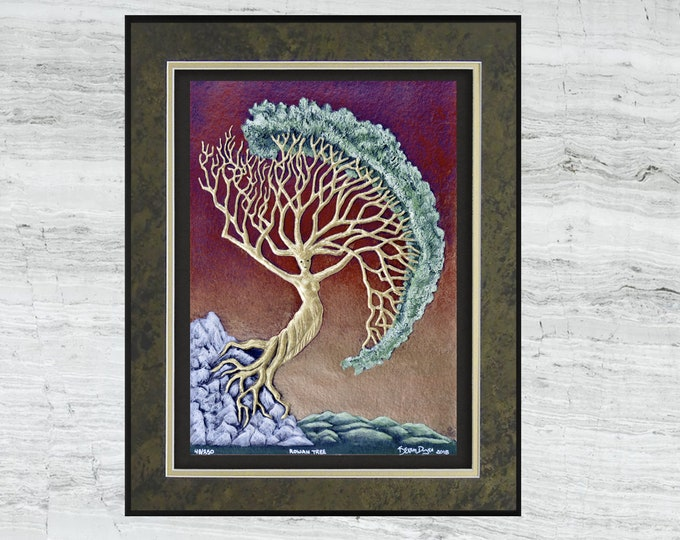 Rowan Tree - Cast Paper - Norse - First Woman - Goddess - Celtic Astology
