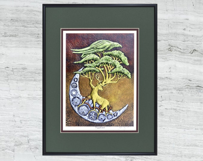 "Yggdrasil - Framed Digital Print - 12"" x 16"""