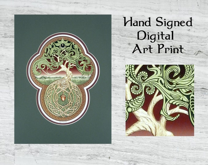 Celtic Tree of Life- Digital Art Print - yggdrasil