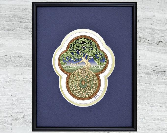 "Celtic Tree of Life - Framed Digital Art Print 8"" x 10"""
