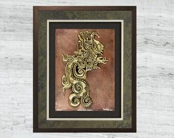Mayan Divine Serpent - Cast Paper