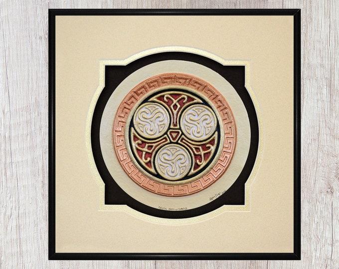 Celtic Family Circle - Cast Paper