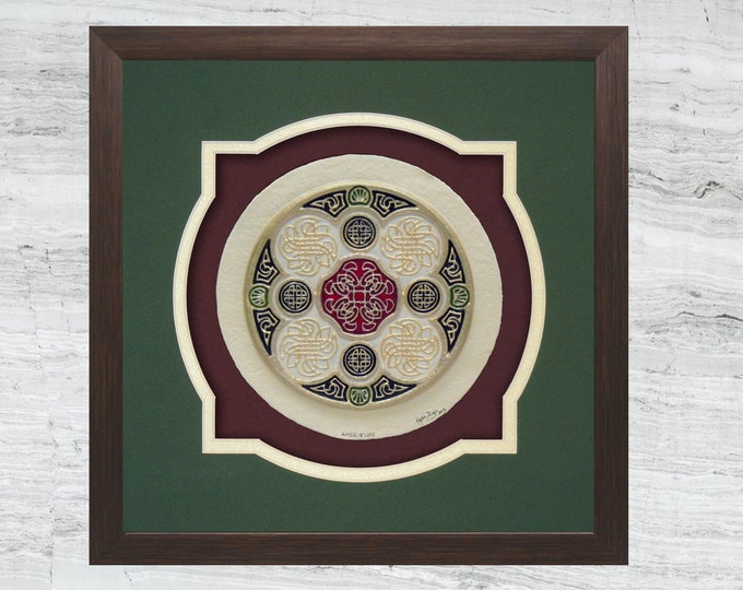 Celtic Wheel of Life - Cast Paper