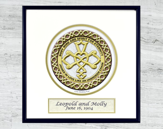 Personalized Celtic Wedding Knot  - framed digital print