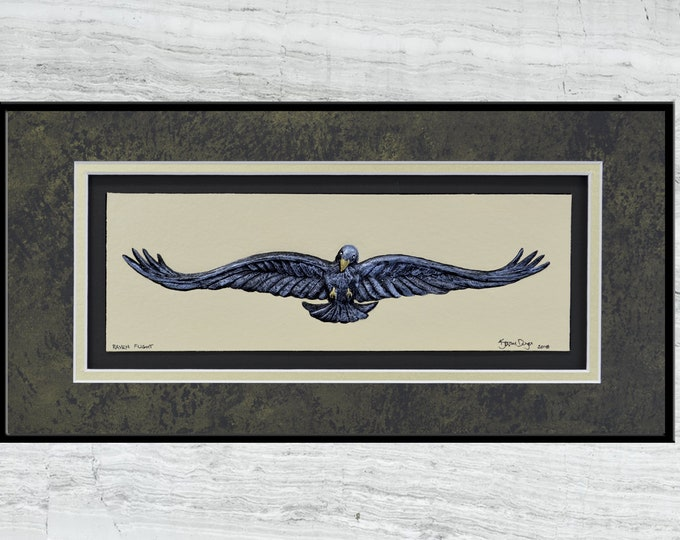 Raven Flight - cast paper art