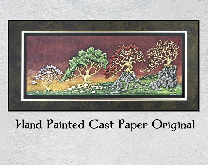 Time of the Season- Cast Paper - Seasonal trees- stages of life -