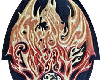 Phoenix - Cast Paper - Fantasy art - Phenix - Greek Mythology - Bennu - Fire - Solar