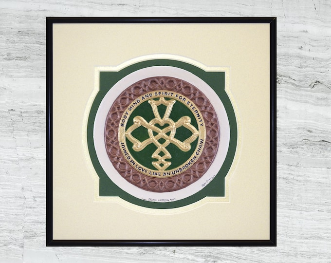 Celtic Wedding Knot  -Cast Paper