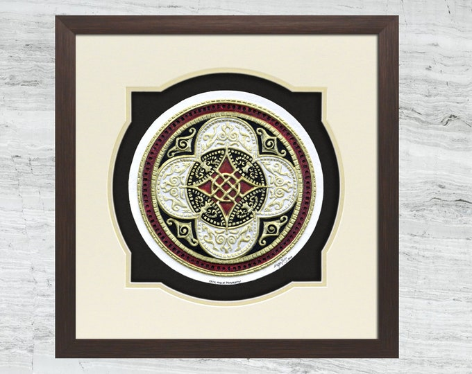 Celtic Ring of Prosperity - Cast Paper - Celtic Blessing - Irish art - Celtic art - Scottish art - Irish gift