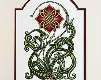 Wild Irish Rose – Digital Art Print - Irish Gift - Mother's Day Gift - Ireland - Celtic