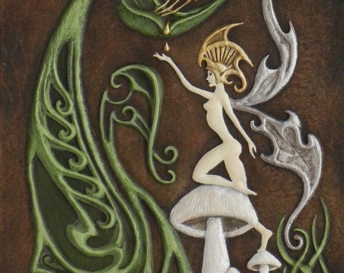 Coevolution - Cast Paper - Fantasy art - Supernatural - Nature Fairy - Irish art - faery - faerie - fay - fae- wee folk
