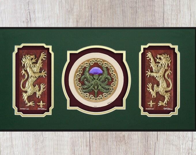 Scottish Triptych - Cast Paper