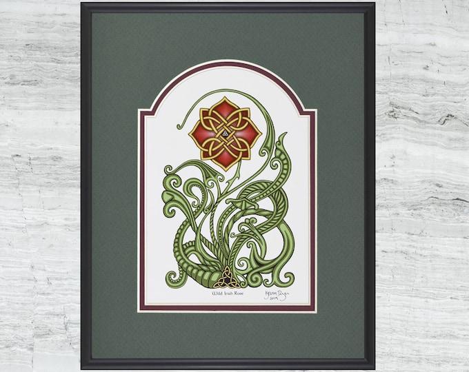 "Wild Irish Rose – Framed  Digital Art Print 8"" x 10"""