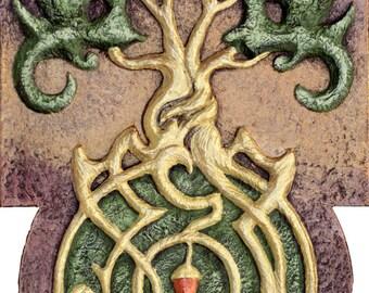 Generations - Cast Paper - Celtic Tree - Tree of life - Acorn - Oak -Fertility - Rebirth