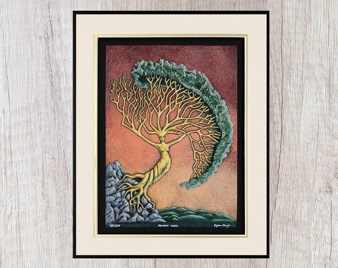Rowan Tree - Cast Paper - Norse - First Woman - Goddess - Celtic Astrology