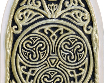 Celtic House Blessing - Cast Paper -  Irish home blessing - Scottish - Celtic Knot Work - housewarming- realtor closing gift - wall art -