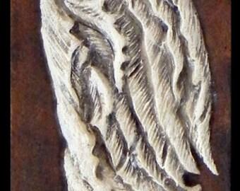Celtic Angel - Cast Paper - Celtic Art - Scottish Art - Irish art - red haired angel - heaven - seraph - winged