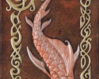 The Salmon of Knowledge - Cast Paper - Celtic art - Irish art - Gaelic - Ireland - Wisdom - bradán feasa - Irish Mythology