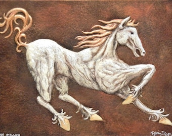 Irish Stallion - Cast Paper - horse - equine - Lugh - Epona - Celtic - Lughnassadh