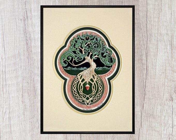 Celtic Tree of Life- Cast Paper