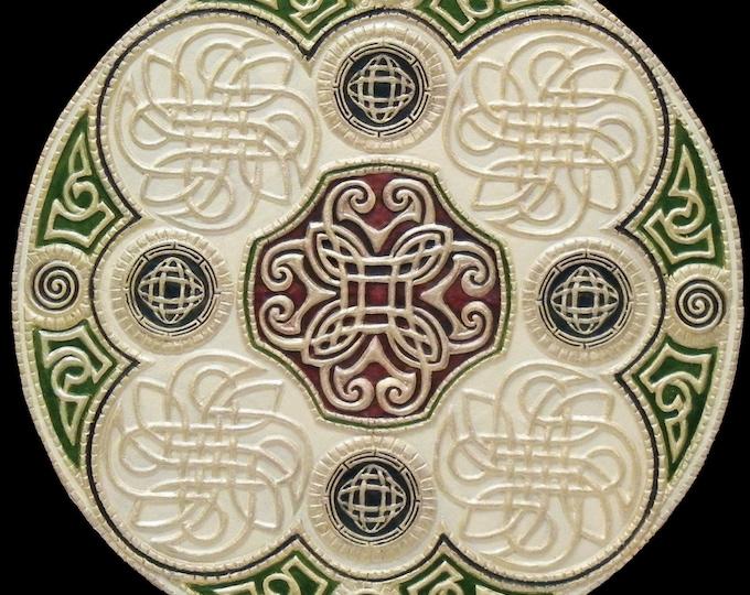 Celtic Wheel of Life - Cast Paper - Irish art - Celtic art - Scottish art - Celtic Knot - Celtic Wheel - Ireland