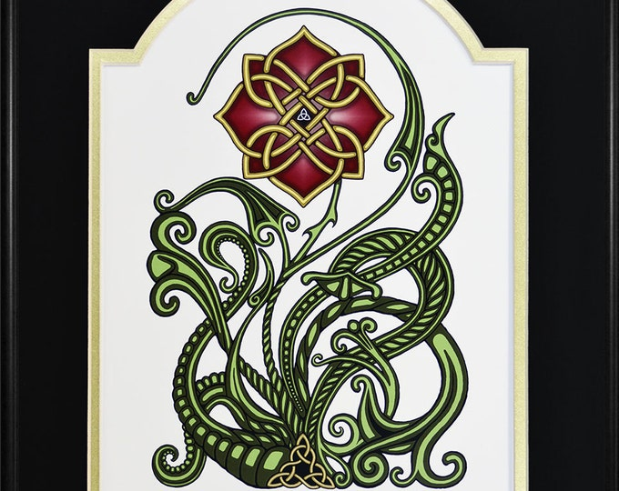 "Wild Irish Rose – Framed Digital Art Print - 12"" x 16"""