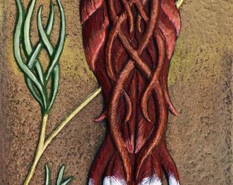 Gaelic Songbird - Cast Paper - Fantasy art -  Celtic Knot - Irish art - wall decor