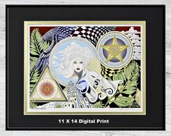 "Ode to the Goddess - 11"" x 14"" Framed Digital Print"