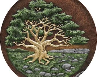 Hawthorn - Cast Paper - Celtic Zodiac - Irish Countryside - May Tree