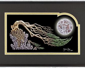 "Heaven & Earth - Framed Digital Art Print -  8"" x 12"""