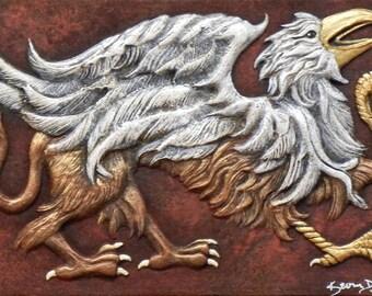 Gryphon - Cast Paper - Fantasy art - Griffin - Griffon - legendary creature