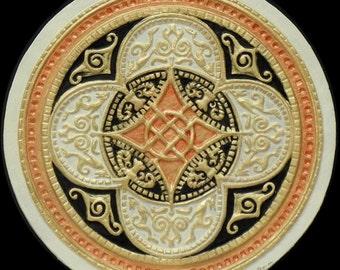 Celtic Ring of Prosperity - Cast Paper - Celtic Blessing - Irish art - Celtic art - Scottish art - Irish gift